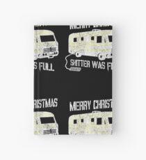 Merry Christmas Shitter Was Full Black Vintage  Hardcover Journal