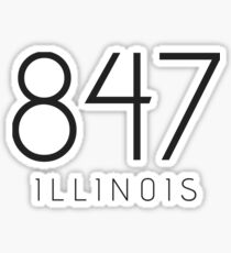 ILLINOIS 847 • BLACK Sticker