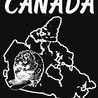 Canada Country Map And Beaver by lo-qua-t