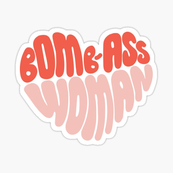 Bomb-ass Woman Sticker