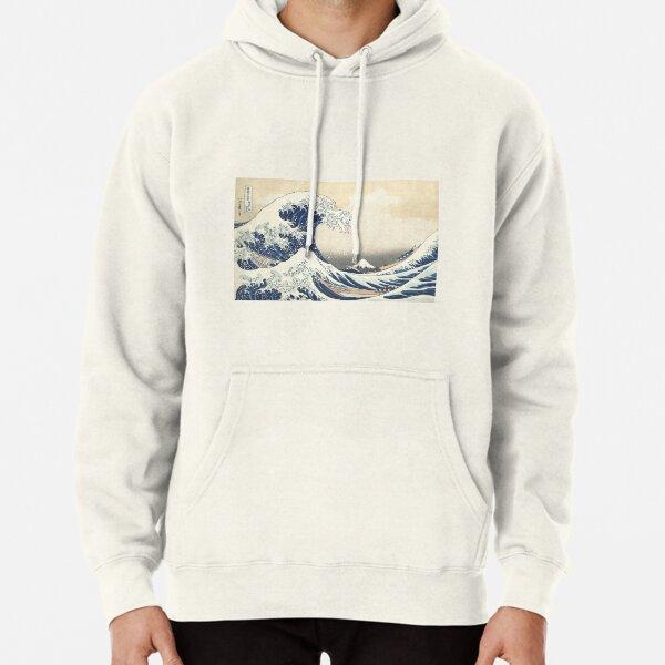 The Great Wave at Kanagawa by Katsushika Hokusai Pullover Hoodie