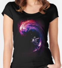 Space Surfing II Women's Fitted Scoop T-Shirt