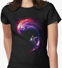 Space Surfing II Women's Fitted T-Shirt