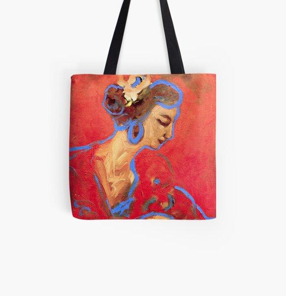Camino en el flamenco  All Over Print Tote Bag