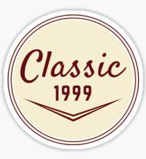 1999 Birthday Gift Vintage Classic 19th Birthday Present Sticker