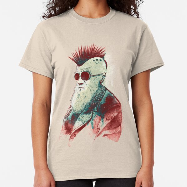 Darwin Mens T Shirt Funny Fish Evolution Evolve Fish Geek Science Nerd