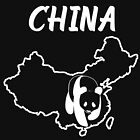 China Country Map And Panda by lo-qua-t