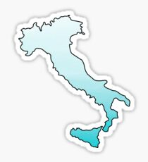 Italy Blue Ombre Sticker