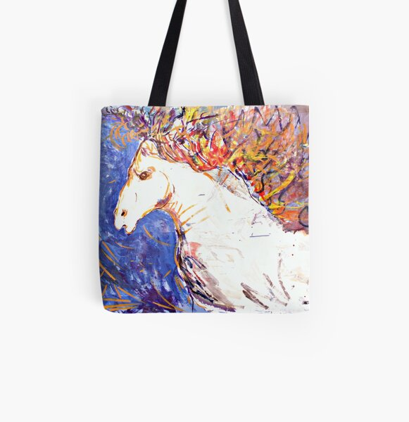 Self portrait as a horse All Over Print Tote Bag