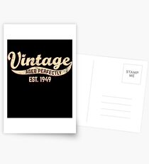 1949 Birthday Gift Vintage Est 69th Birthday 69 Yrs Old B-day Present Postcards