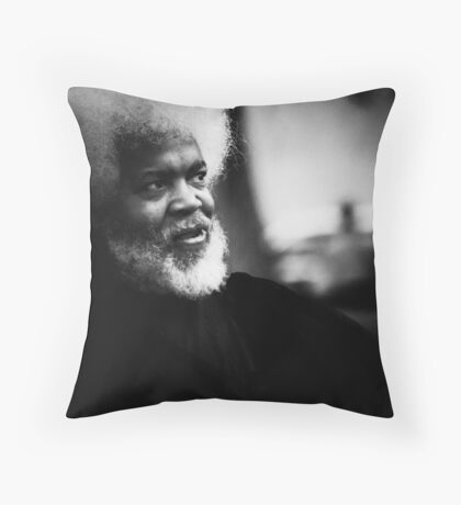Jazz Man - Portrait in Black and White, New York City Throw Pillow