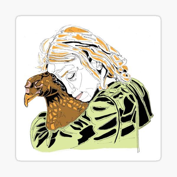 Opposite Worlds - Loved Chicken - Vegan Art Sticker