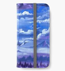 """""""Cotton Skies"""" - Acrylic Painting iPhone Wallet/Case/Skin"""