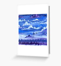 """Cotton Skies"" - Acrylic Painting Greeting Card"