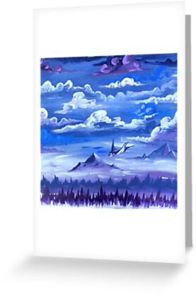 """""""Cotton Skies"""" - Acrylic Painting by Kylie-Price"""