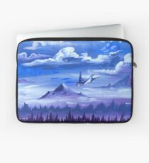 """Cotton Skies"" - Acrylic Painting Laptop Sleeve"