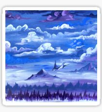 """Cotton Skies"" - Acrylic Painting Sticker"