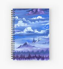 """""""Cotton Skies"""" - Acrylic Painting Spiral Notebook"""