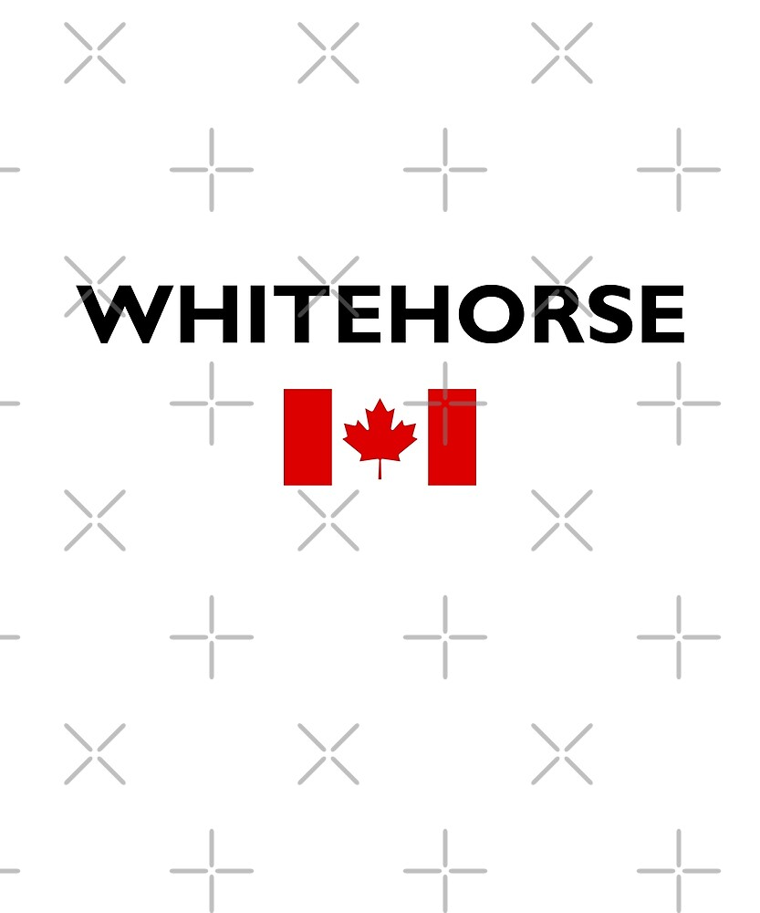 Whitehorse Canada Canadian Flag Color Light by TinyStarCanada