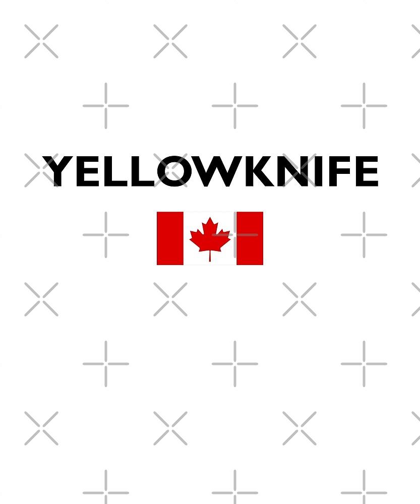 Yellowknife Canada Canadian Flag Color Light by TinyStarCanada