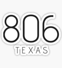 TEXAS 806 • BLACK Sticker