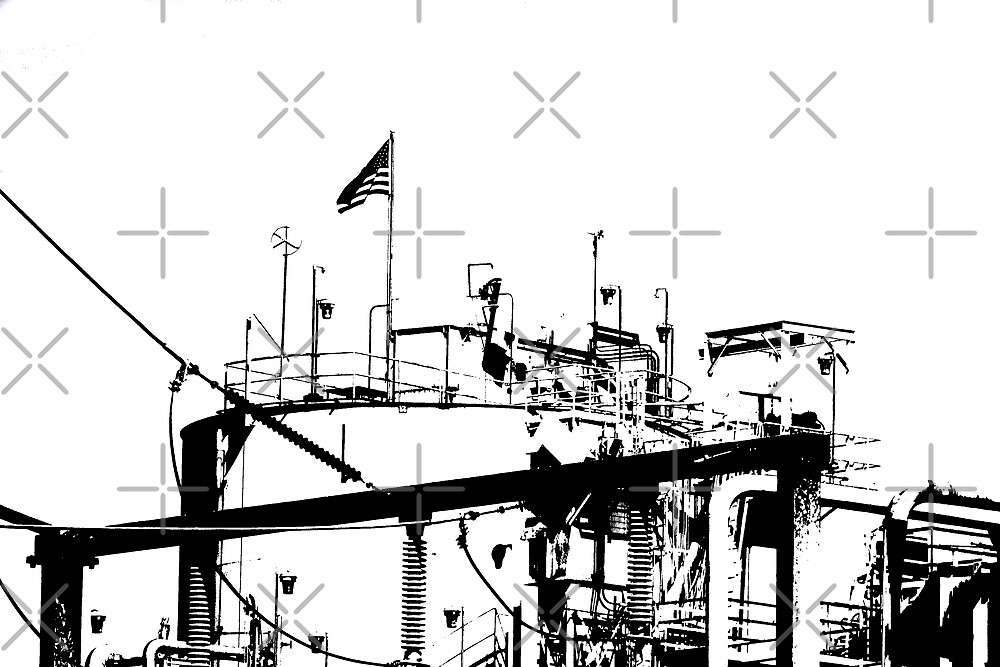 Zoned for Indusrty - B&W High Contrast Industrial Electric Plant by Buckwhite