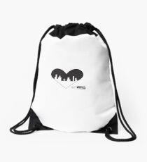 MKE Heart Drawstring Bag
