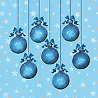 Blue Ornaments #1 by LaRoach