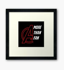 More Than A Fan  Framed Print
