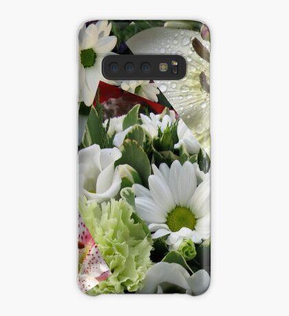 Weiße Freude - Floral Collage Hülle & Klebefolie für Samsung Galaxy