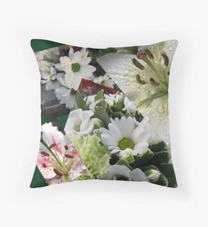 Weiße Freude - Floral Collage Kissen