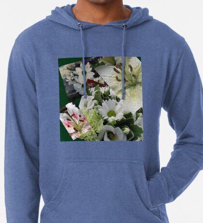 Weiße Freude - Floral Collage Leichter Hoodie
