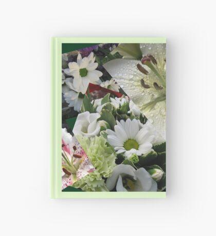 Weiße Freude - Floral Collage Notizbuch