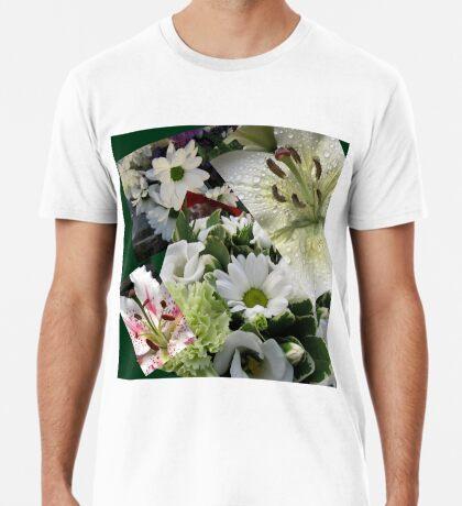 Weiße Freude - Floral Collage Premium T-Shirt
