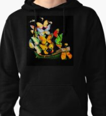 Dali : Vintage Butterfly Ship on Black Art Print Pullover Hoodie