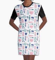Baking Tools Pattern Graphic T-Shirt Dress