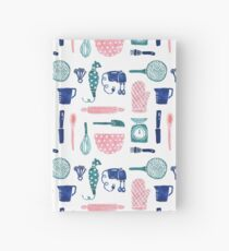 Baking Tools Pattern Hardcover Journal