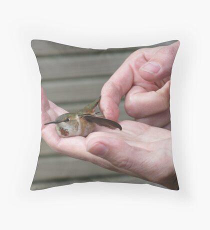 bird in hand Throw Pillow