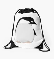 Penguin Friend Drawstring Bag