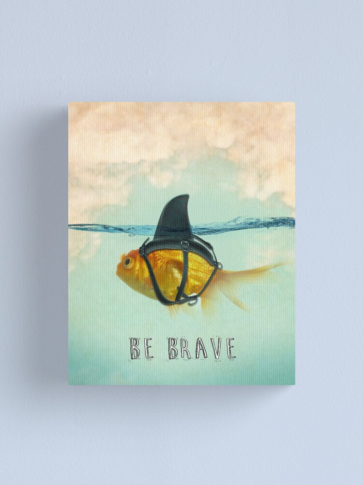 Alternate view of Be Brave - Brilliant Disguise Canvas Print