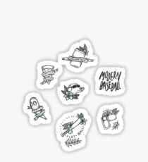 Modern Baseball Sticker Set Sticker