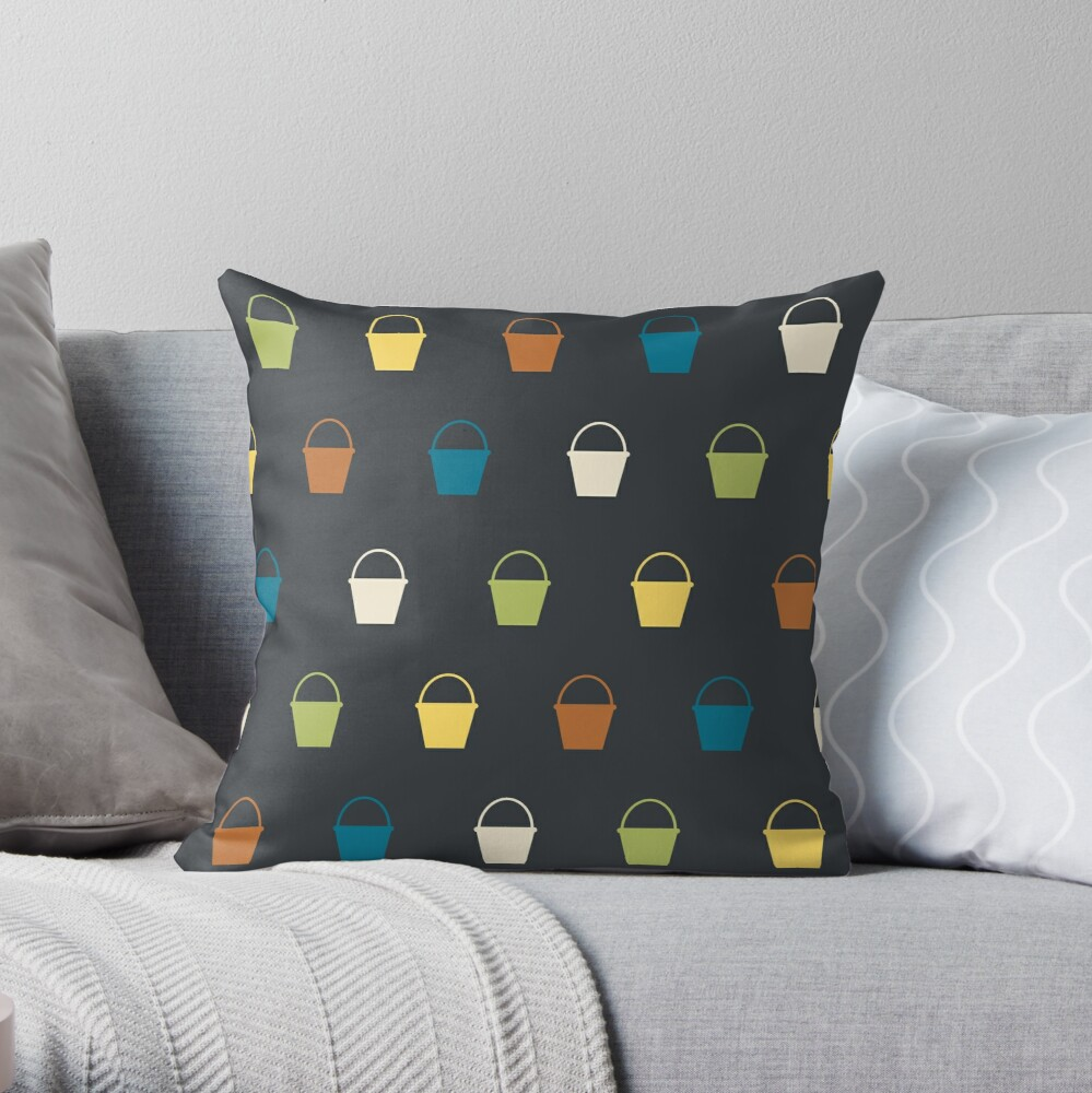 Cuba Street Buckets Throw Pillow