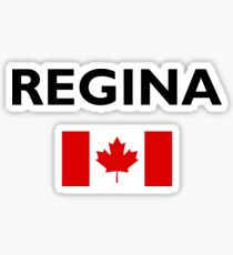 Regina Canada Canadian Flag Color Light Sticker