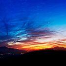 Sunset over San Jacinto Mountain. by Alex Preiss