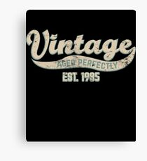 1985 Birthday Gift Vintage Est 33rd Birthday 33 Yrs Old B-day Present Canvas Print