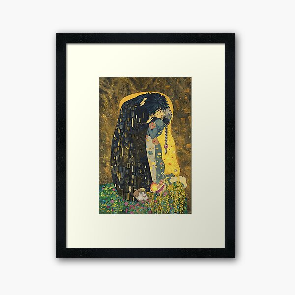 The Kiss: Like Starlight Framed Art Print