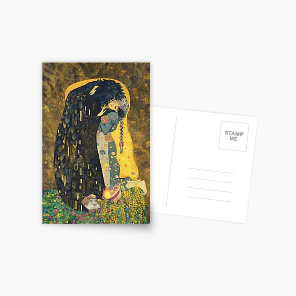 Der Kuss: Wie Sternenlicht Postkarte