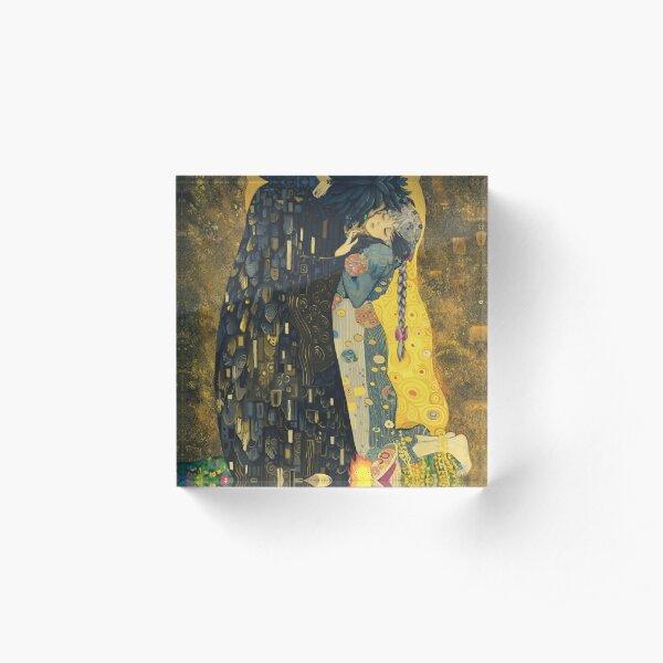 The Kiss: Like Starlight Acrylic Block