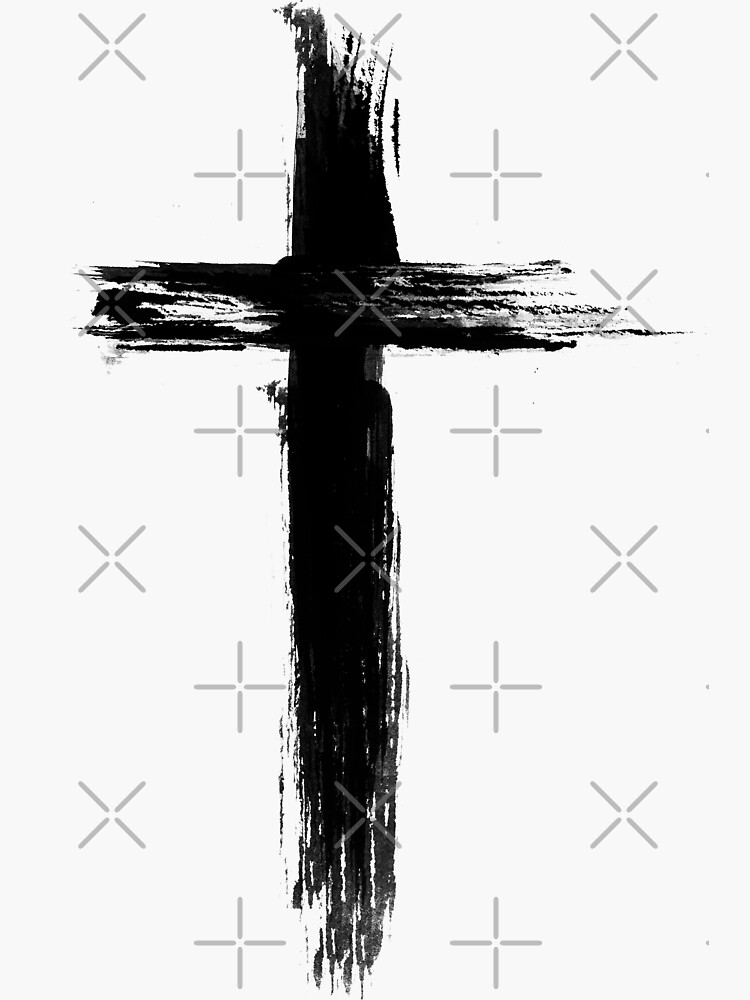 Christian Cross - Artistic Lines by ChristianStore