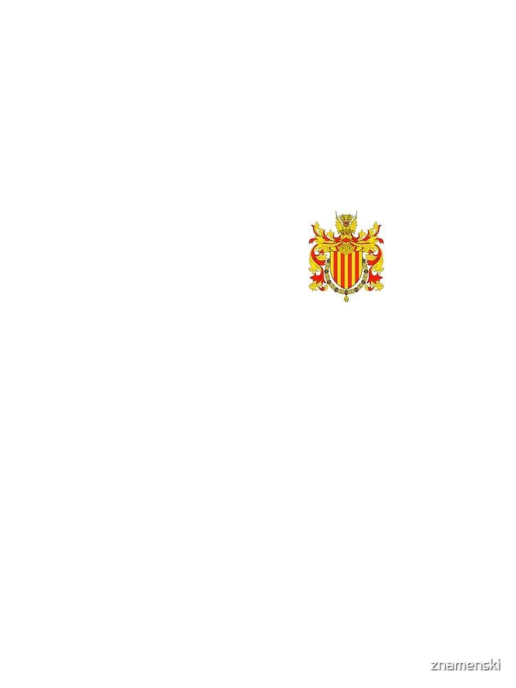 Coat of arms of Catalonia, Escudo de armas de cataluña, Coat of arms, arms, crest, blazon, cognizance, childrensfun, purim, costume by znamenski